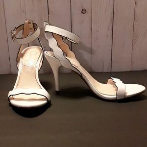 Jessica Simpson White Leather Heels